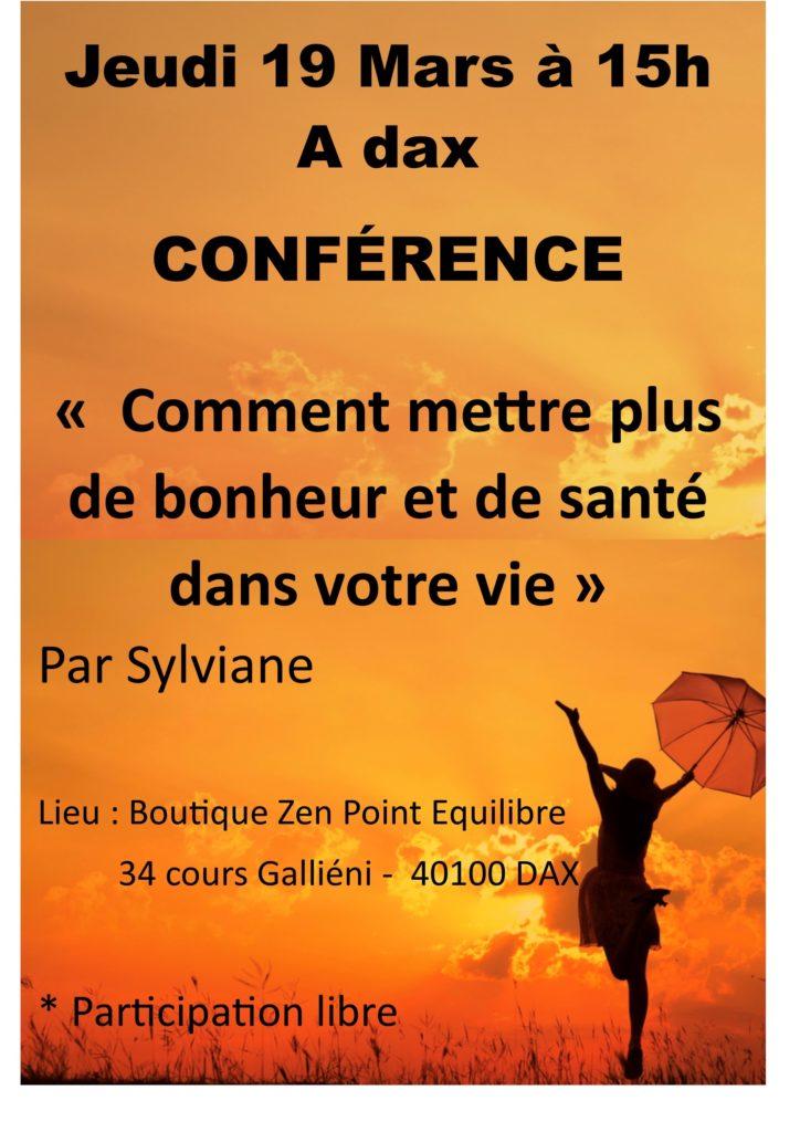 Conférence sylviane DAX